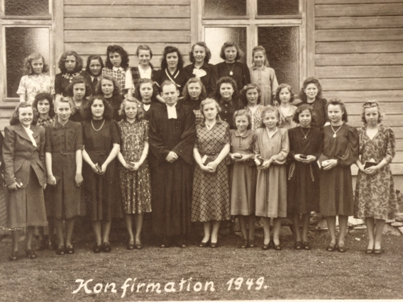 Gruppenfoto Konfirmation 1949